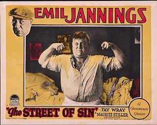 <i>The Street of Sin</i> 1928 film by Ludwig Berger, Mauritz Stiller, Lothar Mendes, Josef von Sternberg
