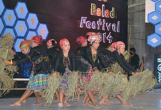 Subanon people - Subanen women staging a cultural performance at the Subanen Palad Festival in 2014.