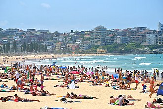 Manly Beach - Manly Beach in January.