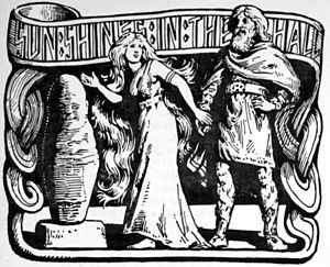 "Alvíssmál - ""Sun Shines in the Hall"" (1908) by W. G. Collingwood"