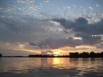 Sunrise near Mossaka (Congo).JPG