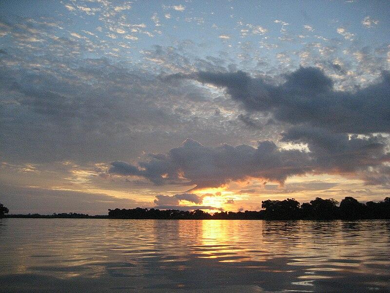 800px Sunrise near Mossaka %28Congo%29