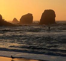 Sunset At Rockaway Beach