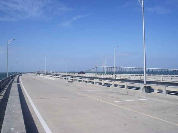 Piers in the united states for Skyway bridge fishing