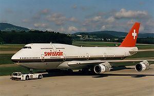 Swissair fut la compagnie de lancement du 747-300.