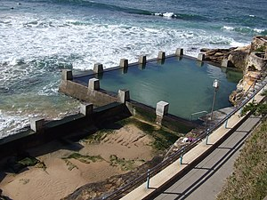 Rock Pool. An Ocean pool in Sydney, New South ...