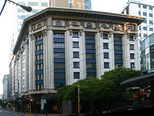 Former Australian Temperance and General Mutual Life Assurance Society Limited Head Office - Corner of Lambton Quay and Grey Street
