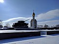 T-34 Tank Monument and Chapel of Saint George at the Glory Memorial in Tiraspol.jpg