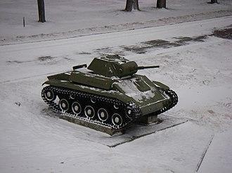 T-70 - Model T-70 in Velikiy Novgorod