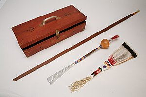 Native American Church - A peyote set such as this is used by the medicine man during the peyote ritual.