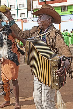 Accordéoniste au Kenya