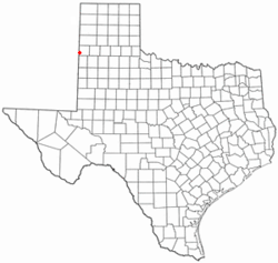 Location of Farwell, Texas