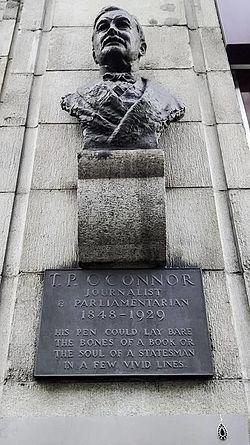 Photo of Thomas Power O'Connor brass plaque