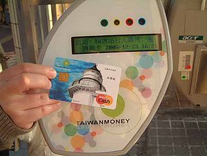 Using a TaiwanMoney ticket checker smartcard r...