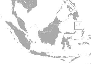 Talaud bear cuscus - Image: Talaud Bear Cuscus area