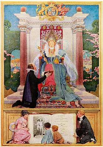 Mary Lamb - 1922 frontispiece illustration for Tales from Shakespeare
