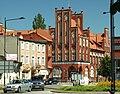 Tczew, Jarosława Dąmbrowskiego, pohled směrem k poště.JPG