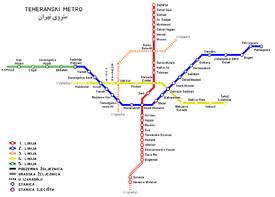 Tehran Metro - Wikipedia bahasa Indonesia, ensiklopedia bebas