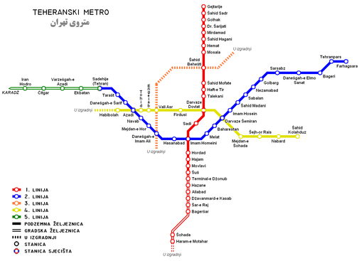 Tehran Subway Map.Tehran Metro Transport Wiki