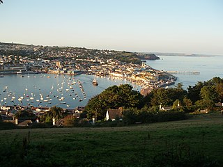 Teignmouth town and civil parish in Teignbridge in the English county of Devon