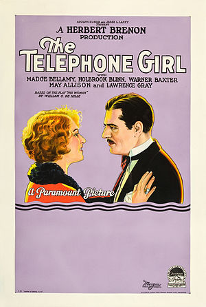 The Telephone Girl (1927 film) - Film poster