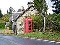 Telephone box, Enochdhu - geograph.org.uk - 1533751.jpg