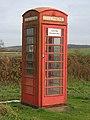 Telephone box at Westby - geograph.org.uk - 629723.jpg