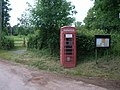 Telephone kiosk at Tolland - geograph.org.uk - 885506.jpg