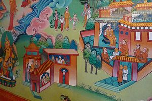 Tengboche - A restored painting in the monastery
