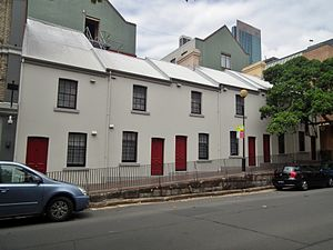 Terraced houses in Australia - Terraces in The Rocks, Sydney.