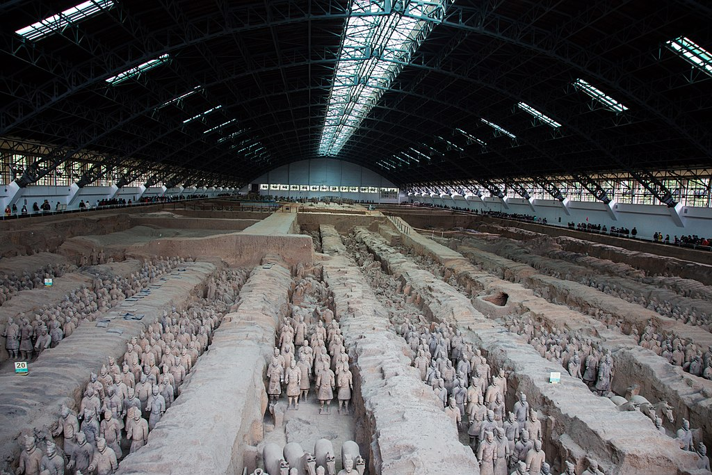 Terracotta Army, View of Pit 1