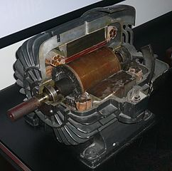 Tesla's three-phase asynchronous motor