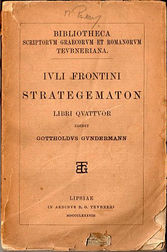 Strategemata - The nineteenth-century Teubner edition of the Latin text