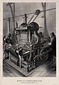 Textiles; a mechanical carpet loom, three-quarter view, with Wellcome V0024155ER.jpg
