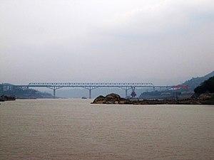 Chongqing–Huaihua Railway - The Changshou Railway Bridge carries the Yuhuai Railway across the Yangtze River.