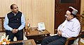 The Chief Minister of Himachal Pradesh, Shri Jai Ram Thakur meeting the Union Minister for Science & Technology, Earth Sciences and Environment, Forest & Climate Change, Dr. Harsh Vardhan, in New Delhi on July 17, 2018 (1).JPG