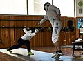 The Epee fencers Agapitos Papadimitriou and Aris Koutsouflakis at Athenaikos Fencing Club.jpg