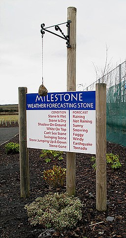 The Milestone weather forecasting stone - geograph.org.uk - 1708774