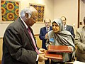 The Minister of Labour & Social Affairs, of Afghanistan, Mrs. Amina Afzali and the Union Minister for Labour and Employment.jpg
