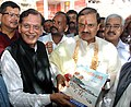 The Minister of State for Culture (Independent Charge), Tourism (Independent Charge) and Civil Aviation, Dr. Mahesh Sharma releasing the Sulabh book on Assi Ghat, in Varanasi on September 05, 2015.jpg