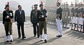 The Minister of State for Defence, Dr. Subhash Ramrao Bhamre inspecting the Guard of Honour, during his visit to the Republic Day NCC Camp 2018, in New Delhi.jpg