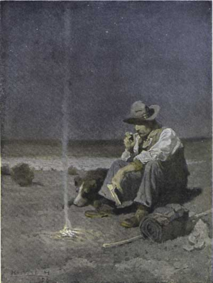 Sheep Wars - The Plains Herder by N.C. Wyeth, 1909.