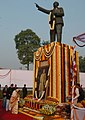 The President, Smt. Pratibha Devisingh Patil paying homage to Dr. Bhim Rao Ambedkar on his 52nd Mahaparinirvan Diwas, in New Delhi on December 06, 2007.jpg