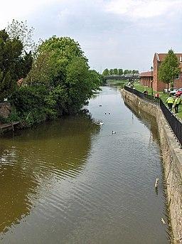 The River Ancholme at Brigg - geograph.org.uk - 804100