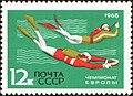 The Soviet Union 1968 CPA 3644 stamp (Scuba Diving European Underwater Orienteering Championship, Alushta, Crimea).jpg