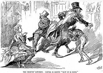 Blackguard Children - Engraving of Charles Dickens's Oliver Twist