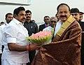 The Vice President, Shri M. Venkaiah Naidu being bid farewell by the Chief Minister of Tamil Nadu, Shri Edappadi K. Palaniswami, on his departure from Chennai on January 19, 2018.jpg
