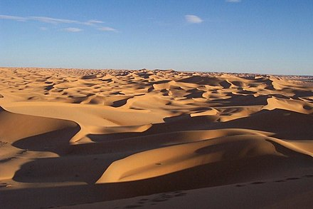 The Sahara is the largest hot desert in the world The World Factbook - Algeria - Flickr - The Central Intelligence Agency (7).jpg