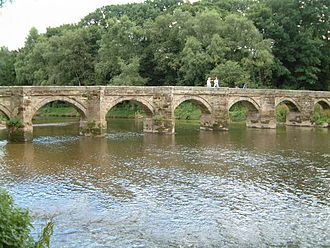 Packhorse bridge - Essex Bridge, a packhorse bridge across the River Trent