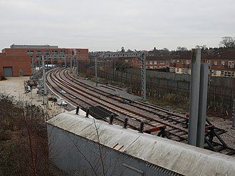 York Rail Operating Centre - Image: The external training railway lines at York ROC